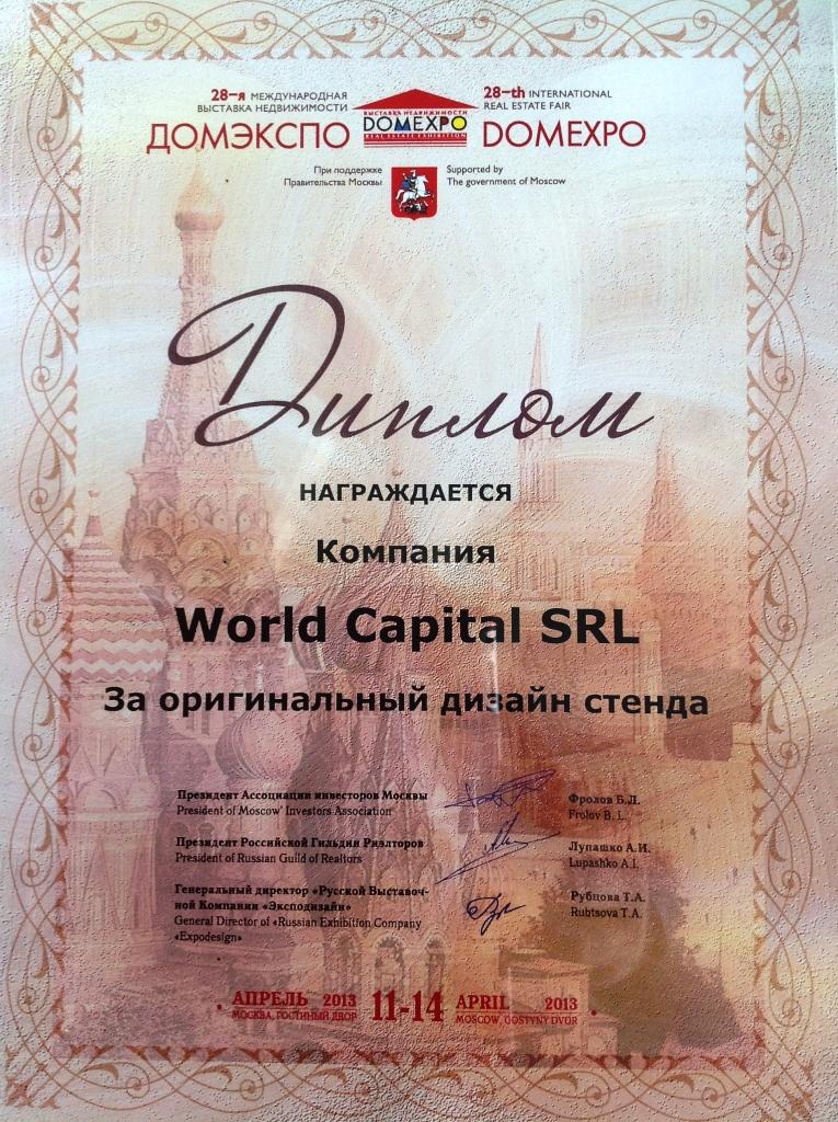 World capital group premiata al domexpo 2013 di mosca by - Anna russo immobiliare ...